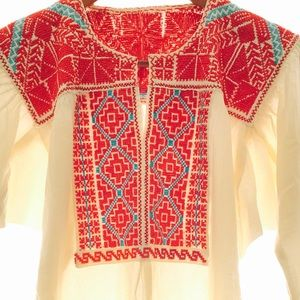 Mexican Blouse Native Embroidered